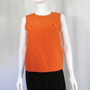 COPY - Jenni Kayne Linen Silk Tank Top XS Orange